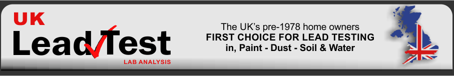 first choice for lead paint test kits in the UK